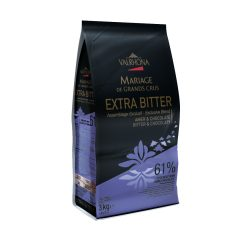 """Valrhona 61% Dark Chocolate """"Extra Bitter"""" Feves 13-VC4657"""