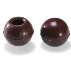 Valrhona Hollow Truffle shells -dark chocolate  #1732