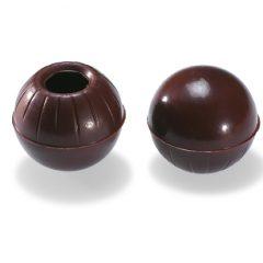 Valrhona Hollow Truffle shells -dark chocolate  #1732